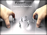 PowerPoint Template - 3d models of a football game