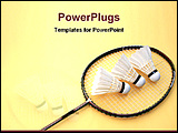 PowerPoint Template - a badminton bat with feathers