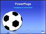 PowerPoint Template - A football and drop of water