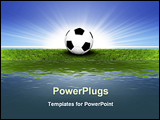 PowerPoint Template - illustrated soccer ball