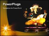 PowerPoint Template - Satue of Hindu Elephant god ganesha