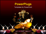 PowerPoint Template - statue of ganesha, the god of education, knowledge and wisdom in the hindu mythology