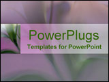 PowerPoint Template - elegant  long stemmed mauve and green lily-like flower