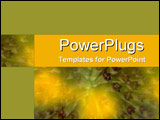 PowerPoint Template - Brilliant yellow and green close-up into throat of tropical flower in full bloom