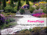 PowerPoint Template - a path leading through a garden.