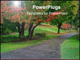 PowerPoint Template - a colorful garden pathway.