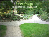 PowerPoint Template - pathway through a park ** Note: Slight blurriness, best at smaller sizes