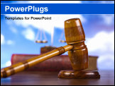 PowerPoint Template - Gavel In Action