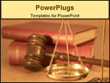 PowerPoint Template - legal concept under yellow light shallow dof