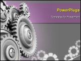 PowerPoint Template - Gear Wheels Background