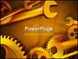 PowerPoint Template - Beautiful gears and wrenches in an illustration