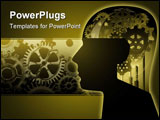 PowerPoint Template - Gears for brains illustration in full color