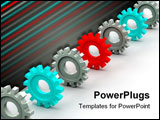 PowerPoint Template - Three-dimensional graphic representation. High quality and technics of execution.