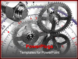 PowerPoint Template - symbols of engineering and designing - gears and bolt and nut - construction of machinery
