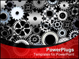 PowerPoint Template - lot of mechanic gears and wheels 3d