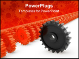 PowerPoint Template - three dimensional shape computer generated image.