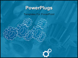 PowerPoint Template - Gears blueprint vector illustration. Technology, teamwork, solution...concepts.