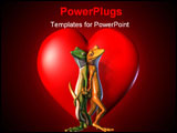 PowerPoint Template - 3d render of geckos in love