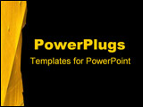 PowerPoint Template - Bright rugged yellow on the side with black
