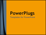 PowerPoint Template - Blue/gray side curve on smart yellow