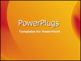 PowerPoint Template - Red and orange side curves against a yellow gradie