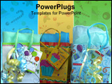 PowerPoint Template - gift bags on blue