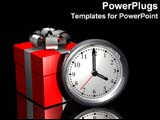 PowerPoint Template - Present next to clock, it is the gift of time.