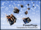 PowerPoint Template - Gifts from the Heaven against winter scene