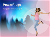 PowerPoint Template - Girl Listening to digital music