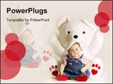 PowerPoint Template - Baby and white teddy