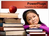 PowerPoint Template - Young girl with textbooks