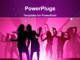 PowerPoint Template - Girls out dancing in a nightclub having fun.