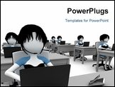 PowerPoint Template - 3d girl working in the call center isolated on white