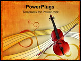 PowerPoint Template - Violin over an elegant warm background.