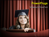 PowerPoint Template - Graduate giving speech