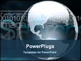 PowerPoint Template - digital globe in a dark background