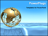 PowerPoint Template - a globe on the ocean