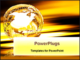PowerPoint Template - a wirefram golden globe