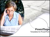 PowerPoint Template - Citizen reads the newspaper.