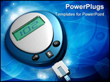 PowerPoint Template - Digital illustration of glucose meter in color background
