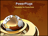 PowerPoint Template - 3d illustration of map background with global