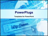 PowerPoint Template - Global communication illustration with technical elements