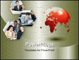 PowerPoint Template - his is a business themed collage. It illustrates finance communication interaction business lifesty