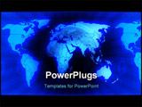 PowerPoint Template - three dimensional computer generated image global business