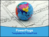 PowerPoint Template - global markets concept - stock charts and a globe