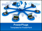 PowerPoint Template - Global network the Internet. 3D image. Illustrations.