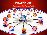 PowerPoint Template - Conceptual image of countries fighting against global warming