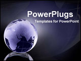 PowerPoint Template - purple globe with highlights