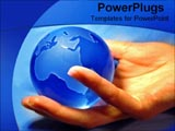 PowerPoint Template - Holding a blue globe