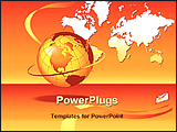 PowerPoint Template - image showing global communication